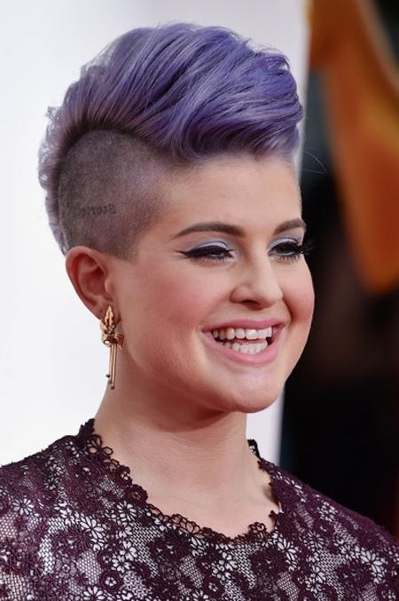 Short Hairstyles And Cuts | Short Purple Fauxhawk With Shaved Sides Inside Shaved Side Short Hairstyles (View 18 of 20)