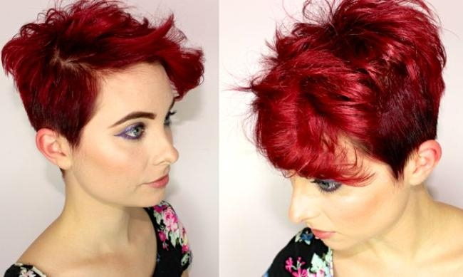 Short Hairstyles And Cuts | Short Red Hair Flipped Up In Short Hairstyles For Red Hair (Gallery 16 of 20)