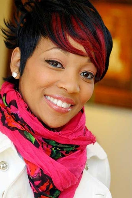 Short Hairstyles And Cuts | Short Red Hair Hightlights For Black Women Throughout Red And Black Short Hairstyles (View 14 of 20)