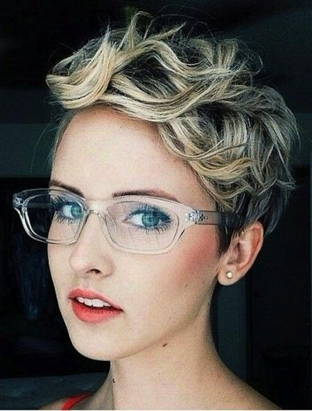 Short Hairstyles And Cuts | Short Wavy Haircut With Glasses Intended For Short Haircuts For Glasses (View 15 of 20)