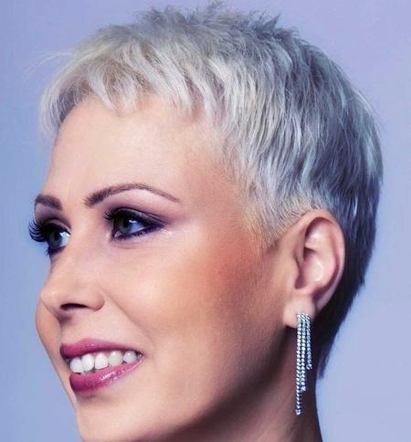 Photo Gallery Of Short Hairstyles For Grey Haired Woman Viewing 20