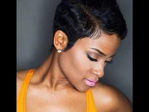 Short Hairstyles And Haircuts For Black Women 2016 2017 – Youtube Within Black Woman Short Haircuts (View 19 of 20)