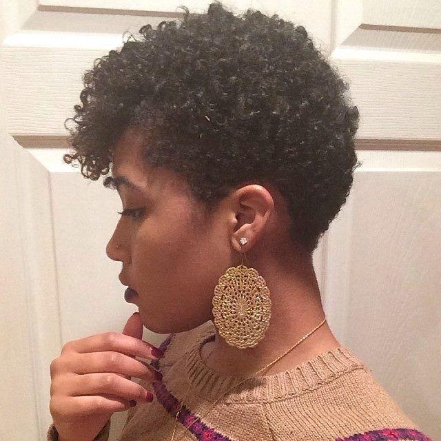 Short Hairstyles: Awesome Short Black Natural Hairstyles 2016 Pertaining To Natural Short Haircuts (View 19 of 20)