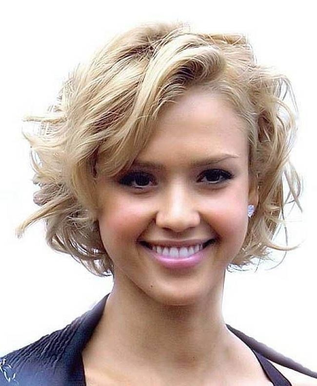 Short Hairstyles: Awesome Short Thick Wavy Hairstyles Simple Ideas With Regard To Short Hairstyles Wavy Thick Hair (View 9 of 20)