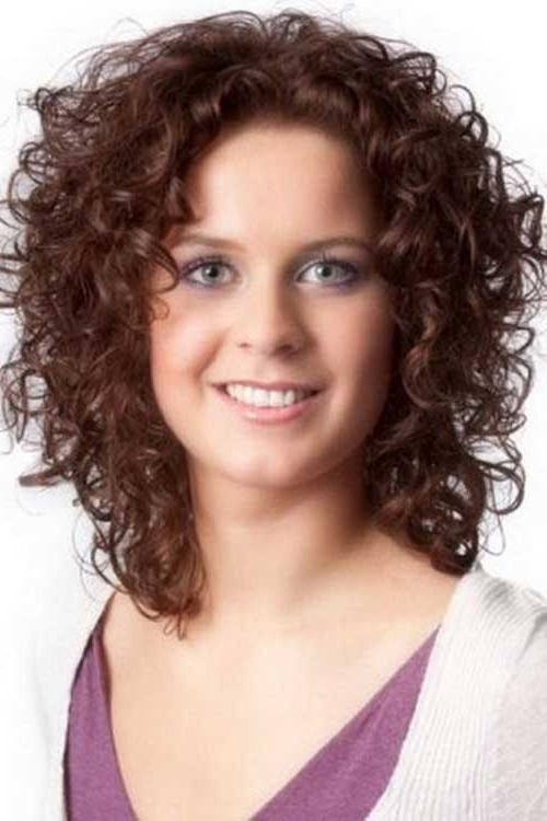 Short Hairstyles: Best Short Curly Hairstyles For Round Faces 2016 Inside Short Haircuts For Wavy Hair And Round Faces (View 16 of 20)