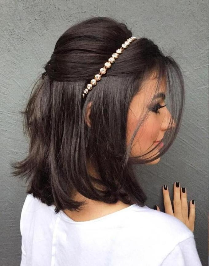 Short Hairstyles : Bridesmaid Hairstyles For Short Hair 2014 Pertaining To Short Hairstyles For Weddings For Bridesmaids (View 13 of 20)