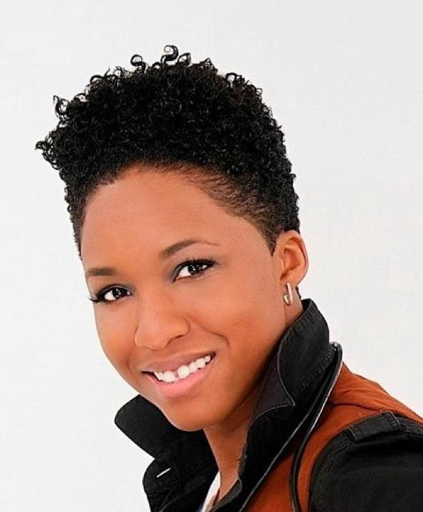 Short Hairstyles: Elegant Short Natural Hairstyles For Black Women Pertaining To Black Women Natural Short Haircuts (View 13 of 20)