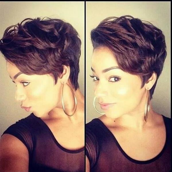 Short Hairstyles For African American Women With Round Faces For Short Haircuts For African American Women With Round Faces (View 13 of 20)