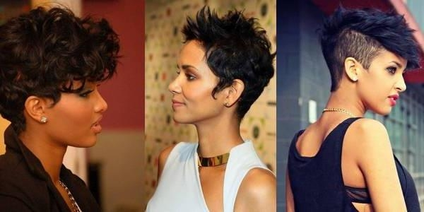 Short Hairstyles For African American Women With Round Faces In Black Short Haircuts For Round Faces (View 15 of 20)