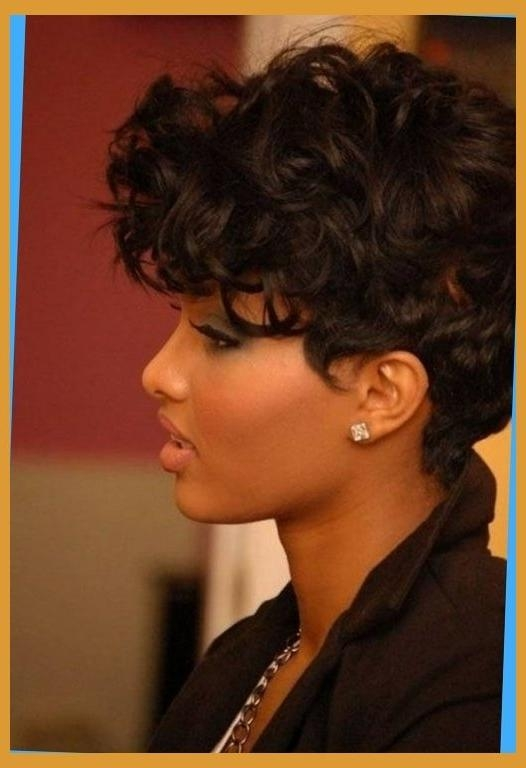 Short Hairstyles For African American Women With Round Faces With With Short Haircuts For African American Women With Round Faces (View 16 of 20)