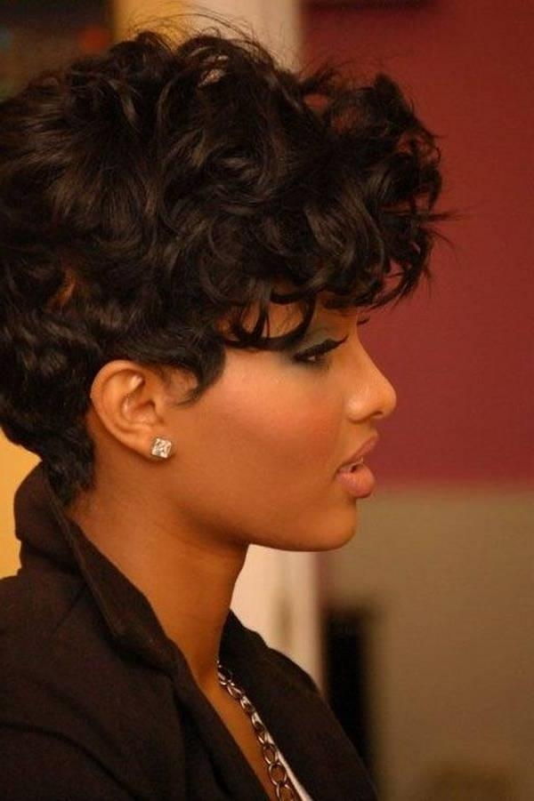 Short Hairstyles For African American Women  Within Short Hairstyles For Round Faces African American (View 18 of 20)