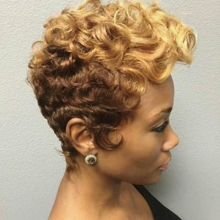 Short Hairstyles For Black Women Inside Short Hairstyles With Color For Black Women (View 17 of 20)