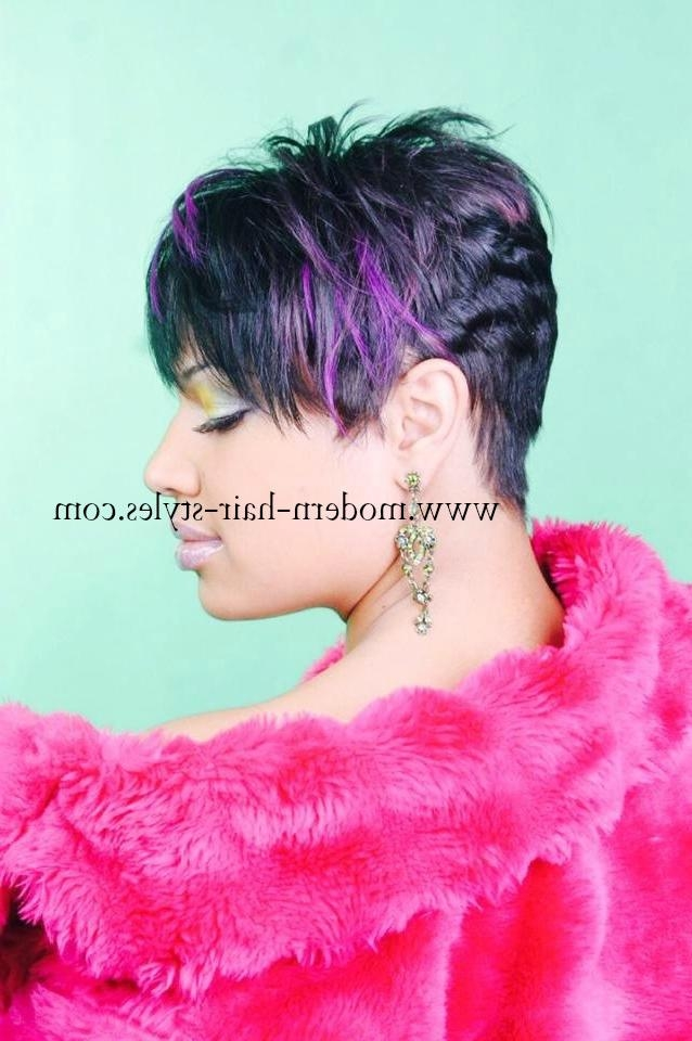 Short Hairstyles For Black Women, Self Styling Options, And Pertaining To Purple And Black Short Hairstyles (View 16 of 20)