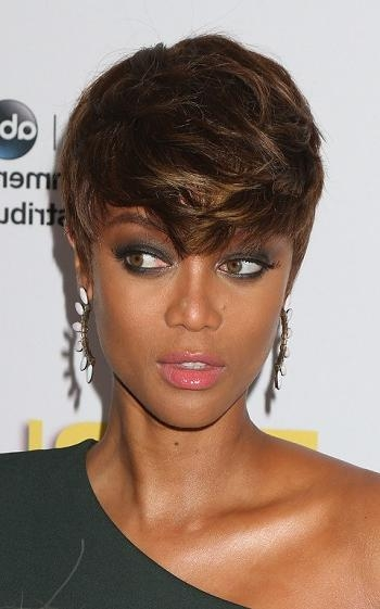 Short Hairstyles For Black Women Tyra Banks | Sophisticated Allure Throughout Tyra Banks Short Hairstyles (View 10 of 20)