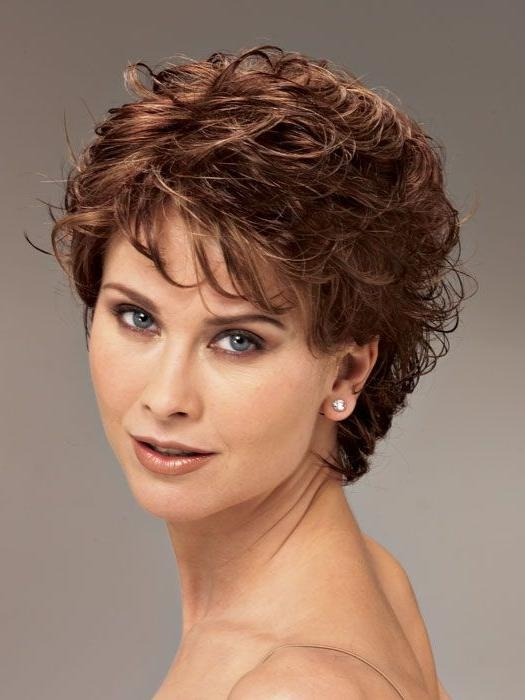 Photo Gallery Of Short Haircuts For Older Women With Curly Hair