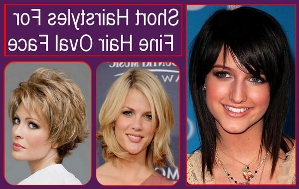 Short Hairstyles For Fine Hair Oval Face 600x380 Within Short Haircuts For Fine Hair Oval Face (View 11 of 20)