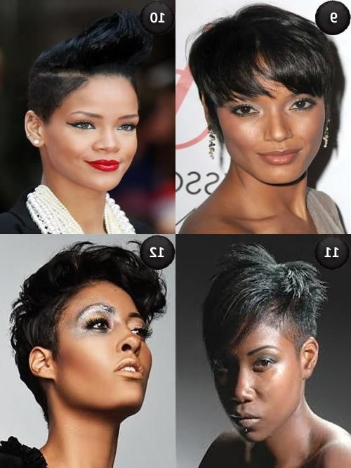 Short Hairstyles For Oval Faces | Circletrest Within Short Haircuts For Black Women With Long Faces (View 18 of 20)