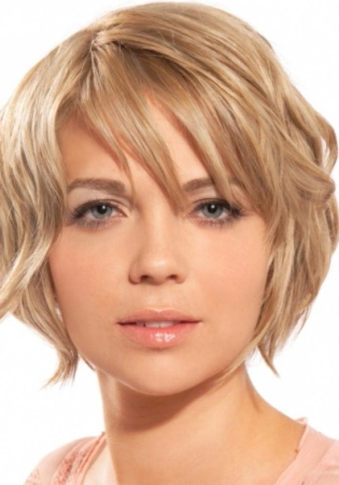 Short Hairstyles For Round Faces And Thick Curly Hair – Hairstyle In Short Haircuts For Round Faces Women (View 19 of 20)