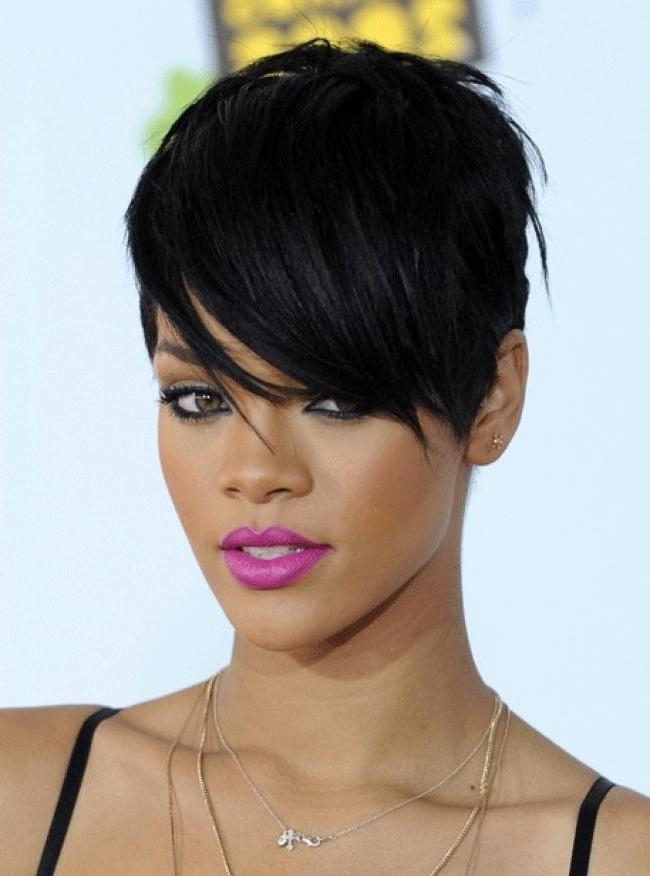 Short Hairstyles For Round Faces Black Short Hairstyles For Oval With Regard To Short Haircuts For Black Women With Long Faces (View 19 of 20)