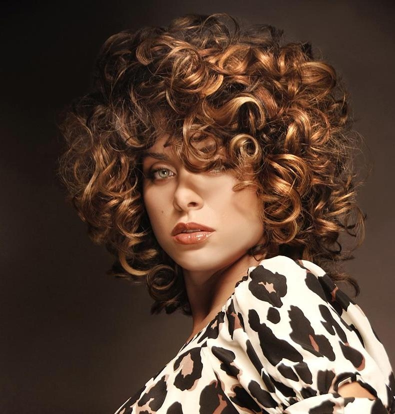 Short Hairstyles For Thick Hair And Hairstyles For Thick Curly Intended For Big Curls Short Hairstyles (View 19 of 20)