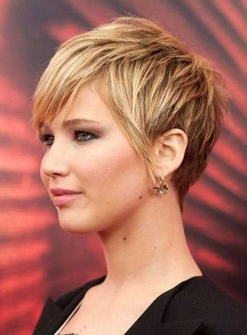 Short Hairstyles For Thick Hair Women's | Jennifer Lawrence Pixie Pertaining To Jennifer Lawrence Short Hairstyles (View 2 of 20)