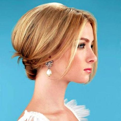Short Hairstyles For Wedding Bridesmaid | Wedding Ideas With Short Hairstyles For Weddings For Bridesmaids (View 16 of 20)