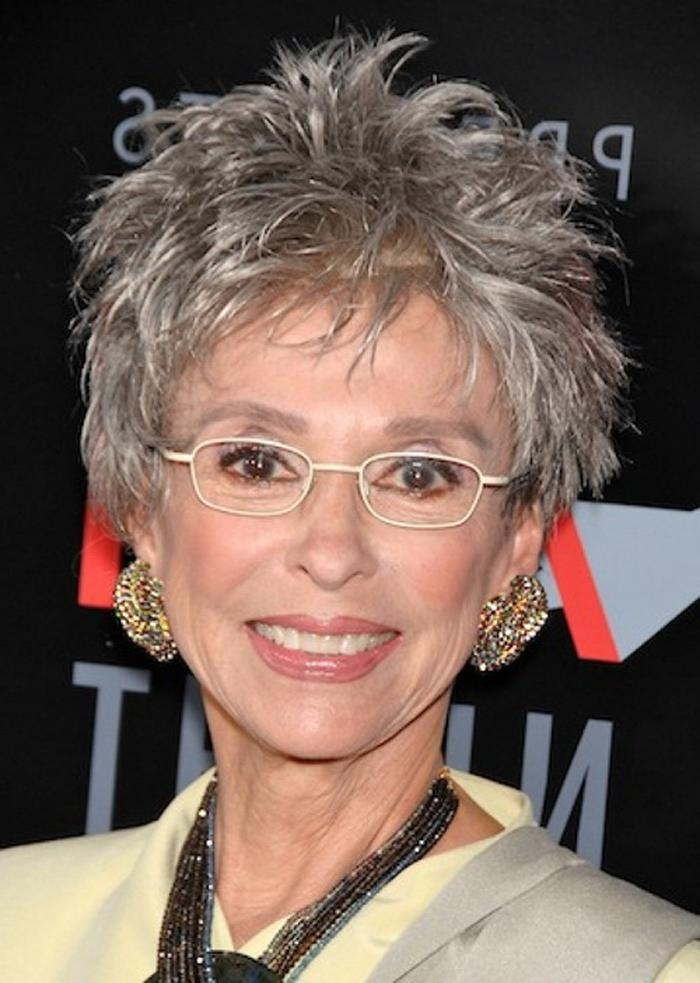 Short Hairstyles For Women Over 60 With Glasses | Latest With Regard To Short Haircuts For Women Who Wear Glasses (View 18 of 20)