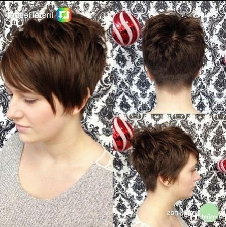 Photo Gallery Of Very Short Haircuts With Long Bangs Viewing 6 Of