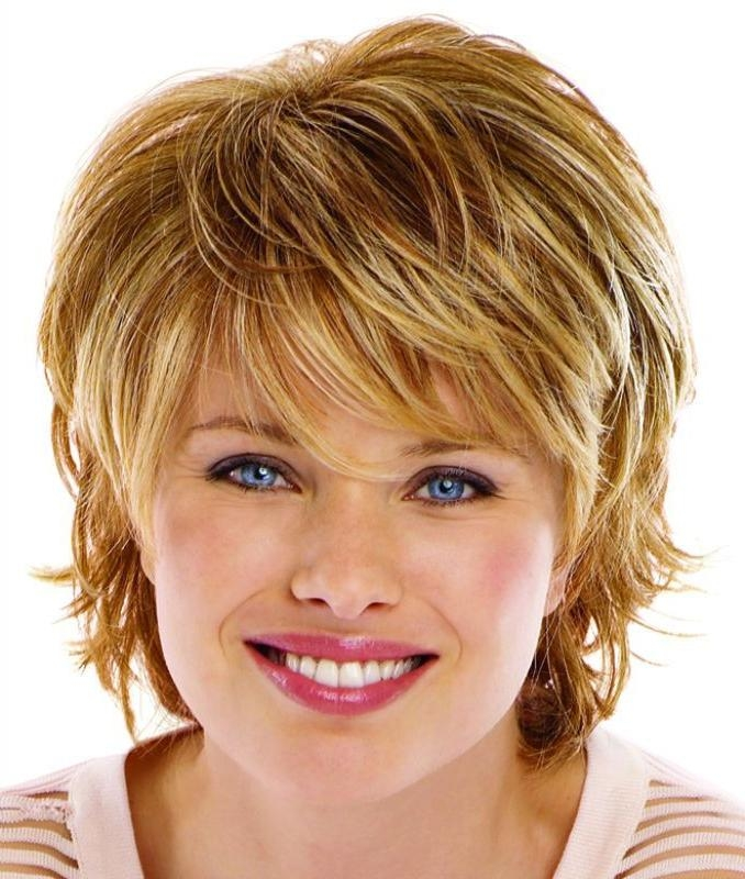 Short Hairstyles: Free Sample Short Hairstyles For Big Faces 2016 With Flattering Short Haircuts For Round Faces (View 19 of 20)