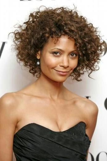 Short Hairstyles: Images Gallery Natural Curly Hairstyles For Within Naturally Curly Short Haircuts (View 18 of 20)