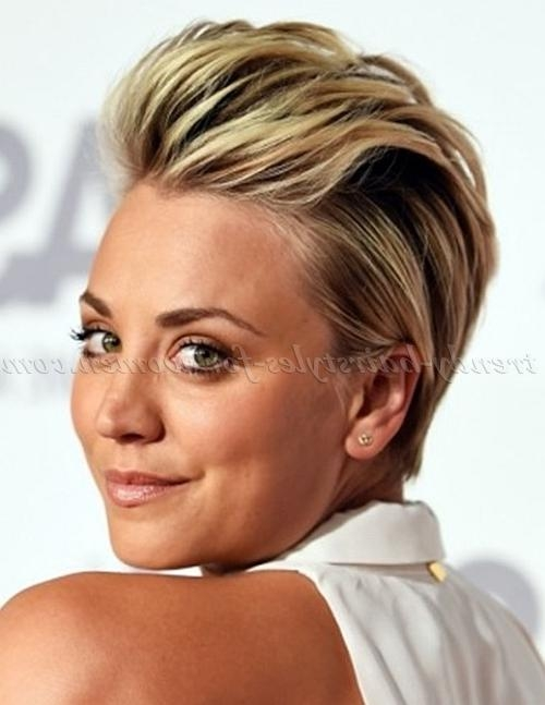 Short Hairstyles – Kaley Cuoco Combed Back Hairstyle | Trendy Within Kaley Cuoco Short Hairstyles (View 19 of 20)