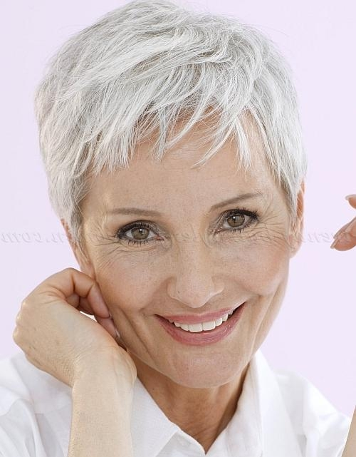 Short Hairstyles Over 50 – Pixie Hairstyle For Grey Hair | Trendy Throughout Short Hairstyles For Grey Haired Woman (View 19 of 20)