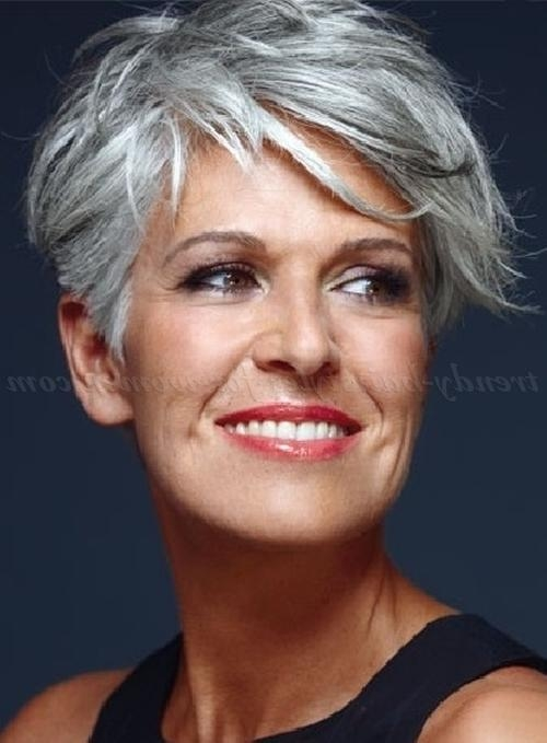 Short Hairstyles Over 50 – Short Hairstyle For Gray Hair | Trendy Within Mature Short Hairstyles (View 16 of 20)