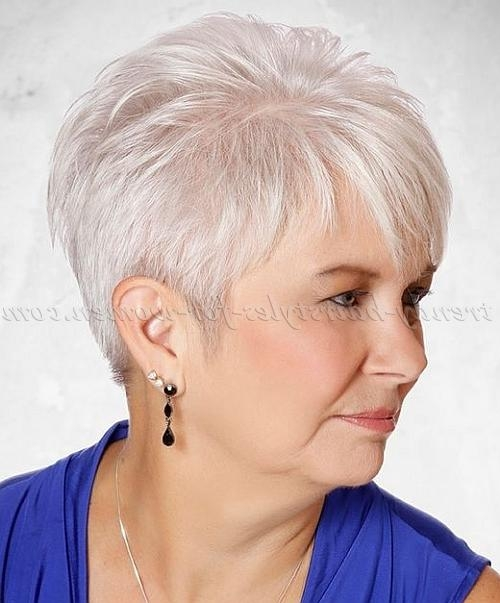 Short Hairstyles Over 50 – Short Hairstyle For Grey Hair | Trendy For Short Haircuts For Grey Haired Woman (View 19 of 20)