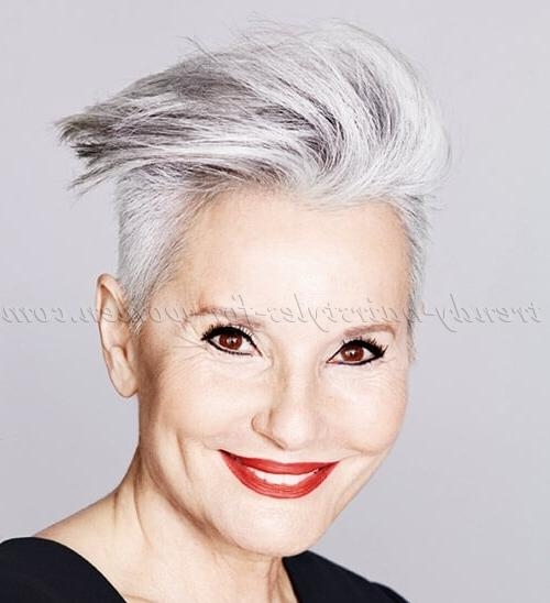 Short Hairstyles Over 50 – Short Modern Hairstyle For Gray Hair Pertaining To Short Hairstyles For Women With Gray Hair (View 20 of 20)