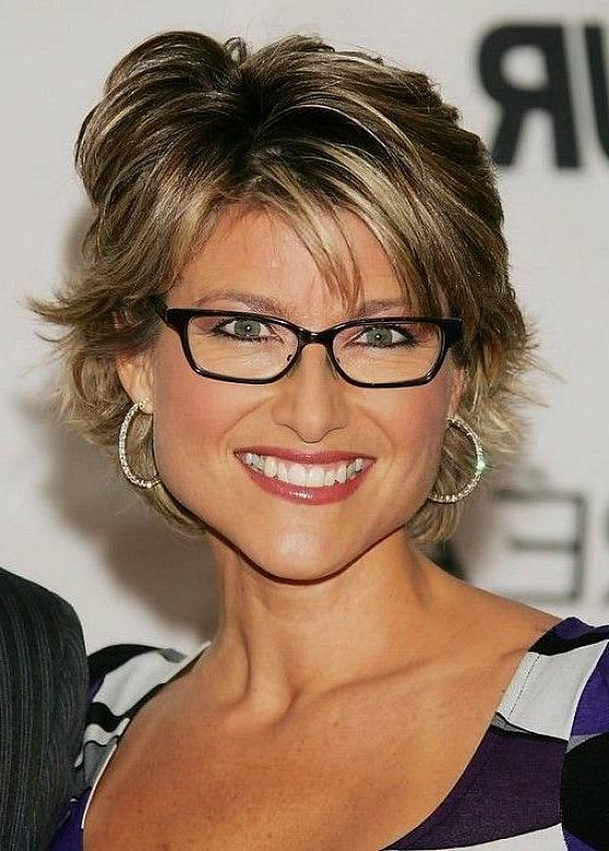 Short Hairstyles Over 50 With Glasses – Rkomedia With Short Hairstyles For Thick Hair Over  (View 19 of 20)