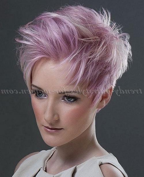 Short Hairstyles – Pink Hairstyle For Short Hair | Trendy Pertaining To Pink Short Haircuts (View 17 of 20)