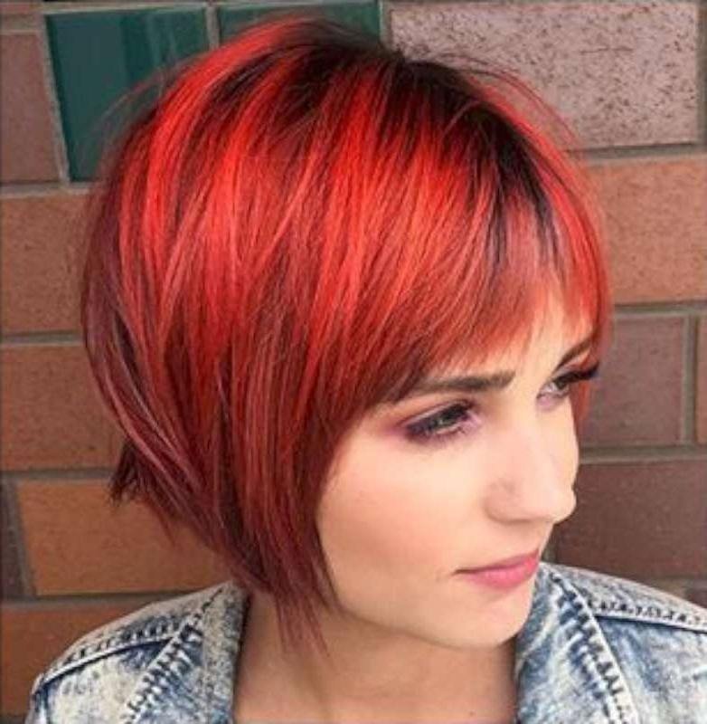 Short Hairstyles Red And Black – 3 | Fashion And Women Regarding Red And Black Short Hairstyles (View 19 of 20)