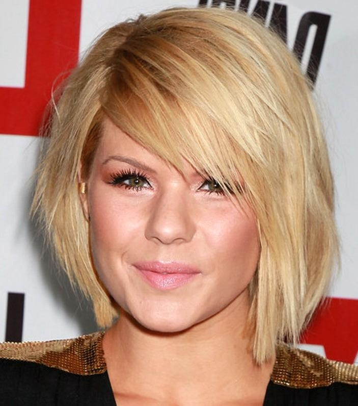 Photo Gallery of Short Hairstyles For Round Faces And Thin Fine Hair ...