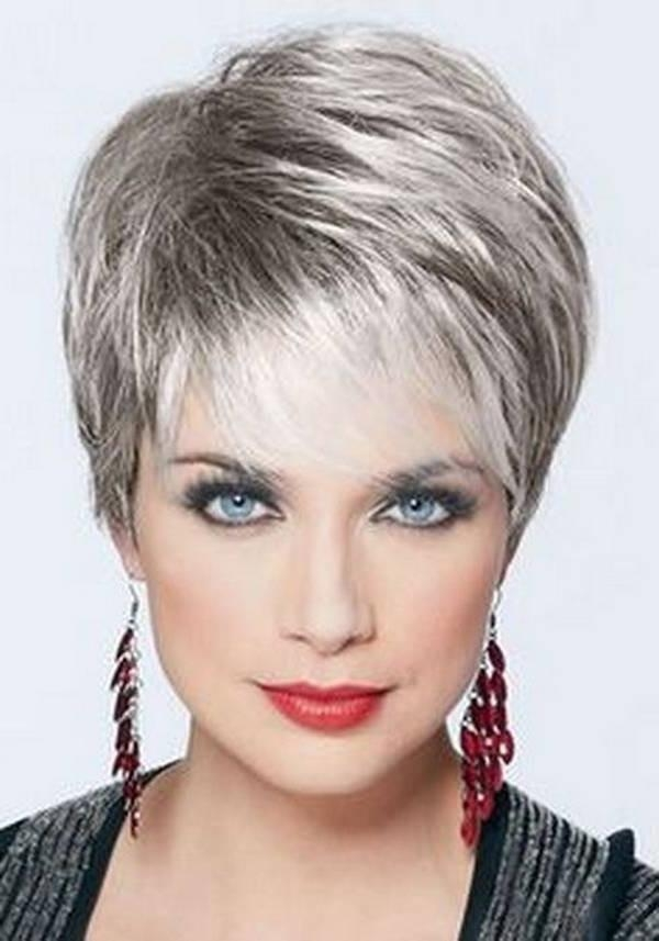 Short Hairstyles: Short Hairstyles Fine Hair Long And Round Faces In Short Hairstyles For Thinning Fine Hair (View 18 of 20)
