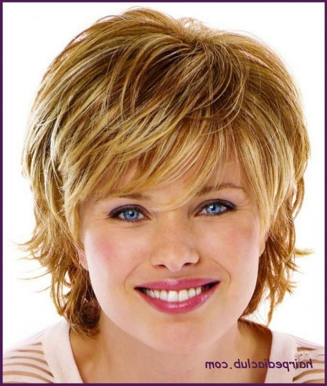 Short Hairstyles For Fine Hair And Round Face Pertaining To
