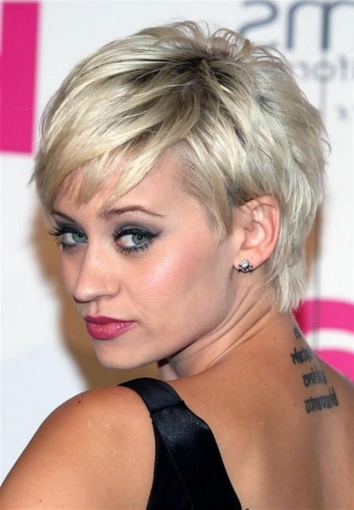 Short Hairstyles : Short Hairstyles For Square Faces Thick Hair With Regard To Short Hairstyles For Square Faces And Thick Hair (View 12 of 20)