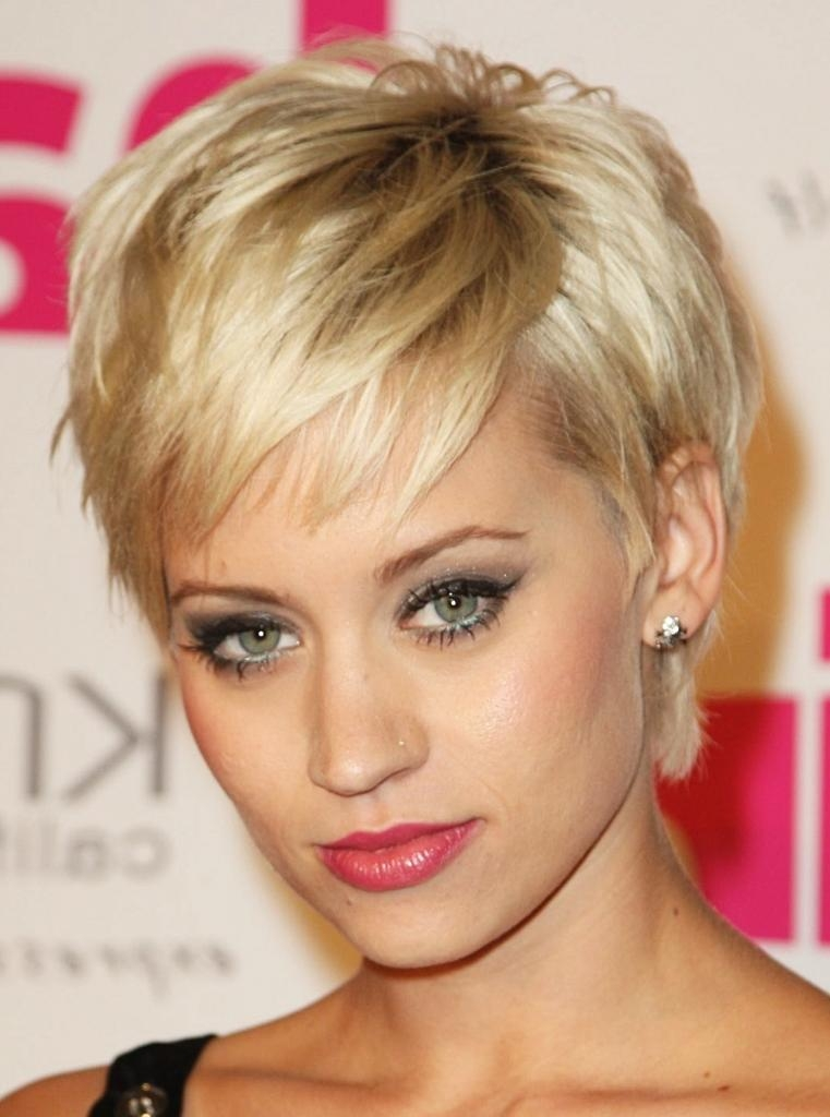Short Hairstyles: Short Hairstyles Round Faces Beautiful Style Intended For Flattering Short Haircuts For Round Faces (View 20 of 20)
