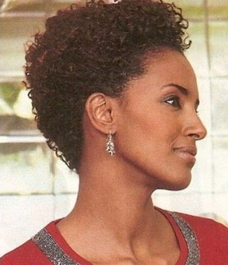 Short Hairstyles: Short Natural Curly Black Hairstyles Trendy Pertaining To Short Haircuts For Naturally Curly Black Hair (View 18 of 20)