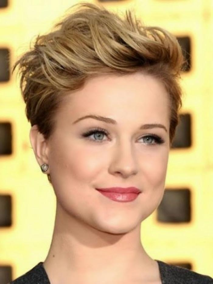 Photo Gallery Of Short Haircuts For Round Faces And Thick Hair
