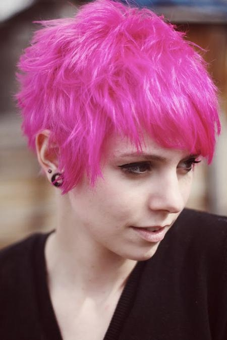Short Hairstyles: Top 10 Samples Pink Short Hairstyles Pink Short Throughout Pink Short Hairstyles (View 16 of 20)