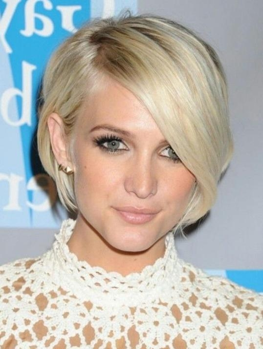 Short Hairstyles With Bangs 2014 – Celebrity Haircut – Popular Throughout Cute Celebrity Short Haircuts (View 17 of 20)