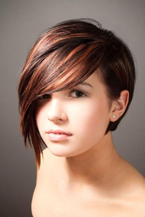 Short Hairstyles With Long Bangs – Hottest Hairstyles 2013 Within One Sided Short Hairstyles (View 5 of 20)