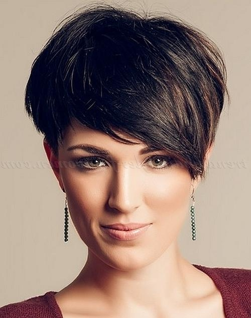 Short Hairstyles With Long Bangs – Short Asymmetrical Haircut Regarding Asymmetrical Short Hairstyles (View 15 of 20)