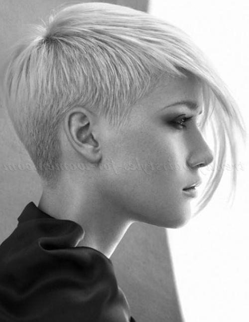 Short Hairstyles With Long Bangs – Short Asymmetrical Hairstyle In Asymmetrical Short Haircuts For Women (View 9 of 20)